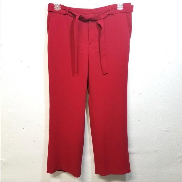 Banana Republic Pants - BANANA REPUBLIC Red Wide Leg Pants 8 34